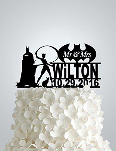Acrylic Wedding Cake Topper Batman And Catwoman