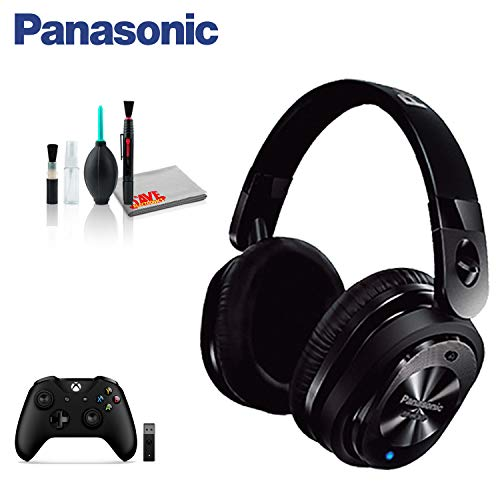 Panasonic Premium Noise Cancelling Over-The-Ear Stereo Headphones with Mic/Controller RP-HC800-K (Base Bundle)