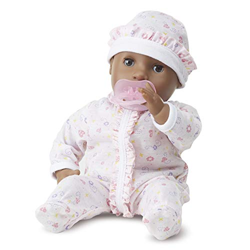 (Melissa & Doug Mine to Love Gabrielle 12-Inch Poseable Baby Doll With Romper and Hat)