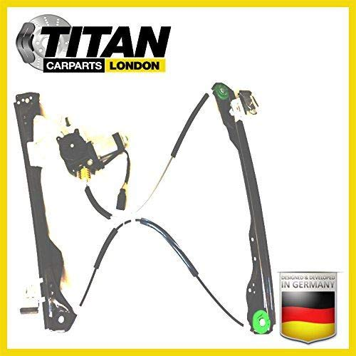 ALPHA TEC Window Regulator For 2/3 Doors Ford Focus MK1 1998-2004 Front Right Driver Off Side With 2 Pin Motor TITAN