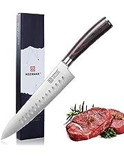 KEEMAKE Chef Knife-8.5'' Kitchen Knife-German High Carbon Stainless Steel-Ergonomic Pakkawood Handle-Multi Purpose Gyutou