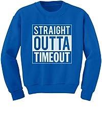 TeeStars - Straight Outta Timeout Funny Toddler/Kids Sweatshirts