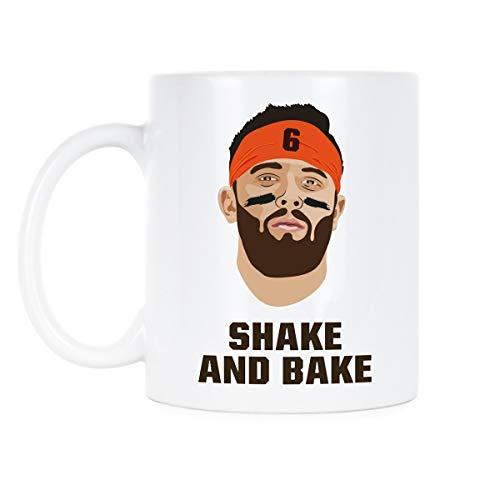 (Baker Mayfield Mug Baker Mayfield Shake and Bake Coffee Mug)