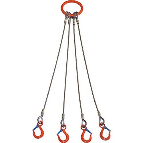 大洋 4本吊 ワイヤスリング 3.2t用×1m 4WRS B00TW0L7QA