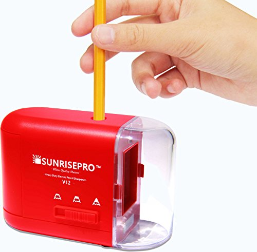 Electric Pencil Sharpener Battery Operated With Container 3 Ways To Power:...