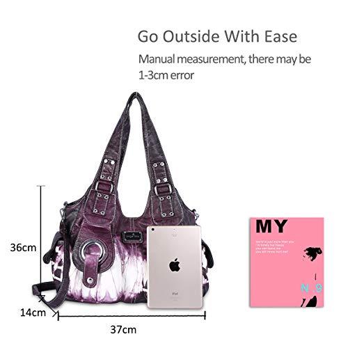 Hobo NICOLE Women DORIS pockets handbags amp; slouch Purple bags Totes Casual purses multiple bags FwUqUTgWc