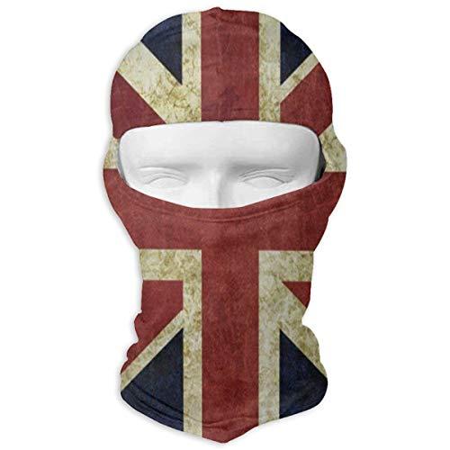 (Full Face Mask Hood Motorcycle Soft Vintage Union Jack Headwear Balaclava Windproof Cycling Hat)