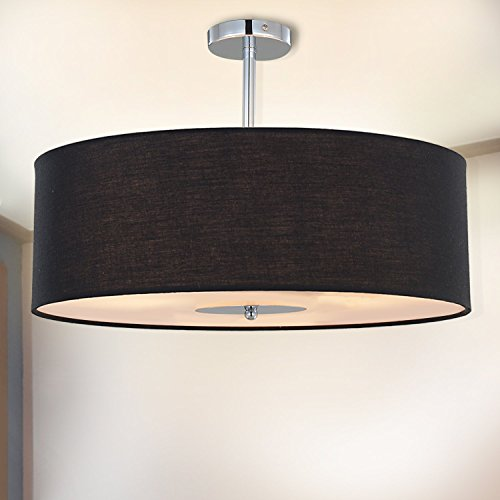 Black And White Drum Pendant Light