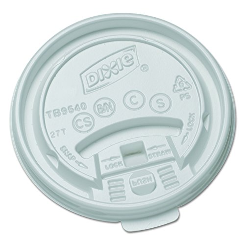 Dixie TB9540 Tear Back Lid for 10 oz Paper Hot Cup, White (10 Packs of 100) -