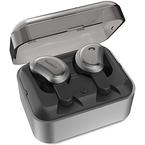 Wireless Headphones - true Bluetooth Headphones Stereo Bass Mini Headset Share In-Ear Earphones with Portable Rechargeable Cockpit for Sports Office (Stereo Headset Headphones)
