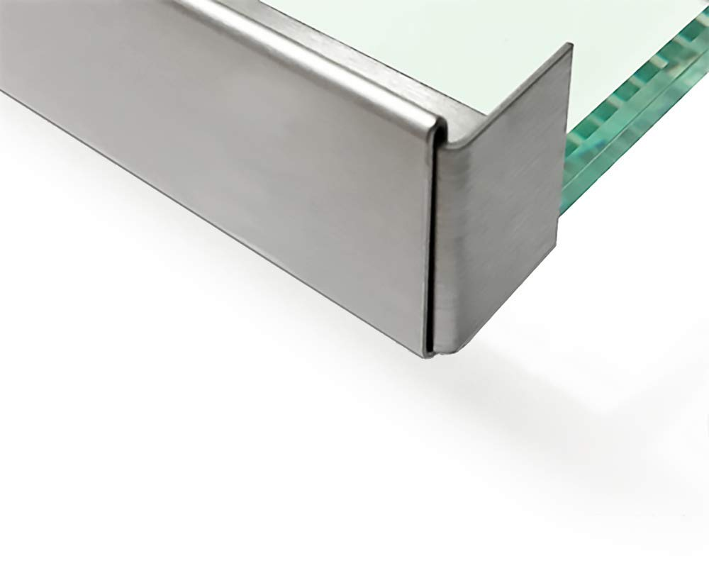 Hervorragend Edelstahl Glasdach-Regenrinne 13mm für ESG-Glas 12mm oder VSG Glas NF49