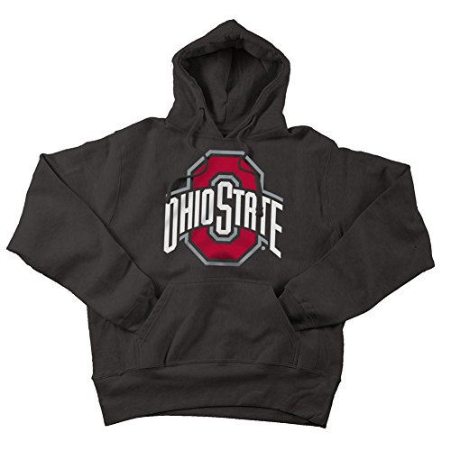 Ohio State Buckeyes Hoodie Sweatshirt Applique Charcoal - 2XL - charcoal heather gray (State Applique)