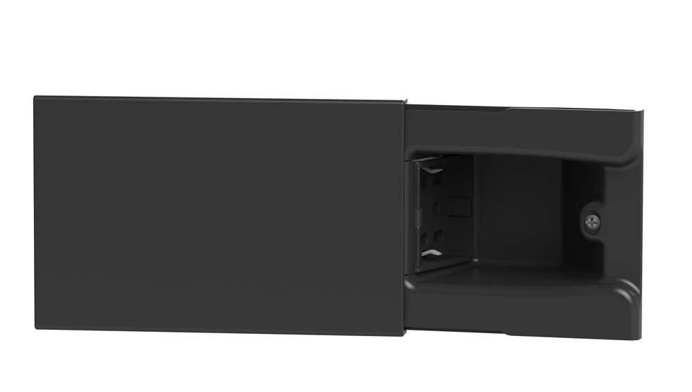 4Box 4B.06.H21 Presa a Scomparsa per Scatola da Incasso a 4 Moduli Completa Nero