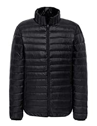 MADHERO Men's Packable Puffer Jacket Slim Fit Lightweight Puffy Outerwear