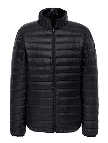 Packable SUNDAYROSE Quilted Padded Puffer Jacket Black Outerwear Men's Lightweight zCCvwqx6Z
