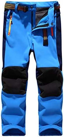 Echinodon Jungen Outdoorhose mit Fleecefutter Winter Hose Skihose Schneehose Wasserabweisend Winddicht