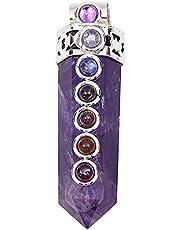 Harmonizacja ametyst ołówek Reiki uzdrawiający fioletowy duchowy prezent kamień różdżka 7 czakra wisiorek