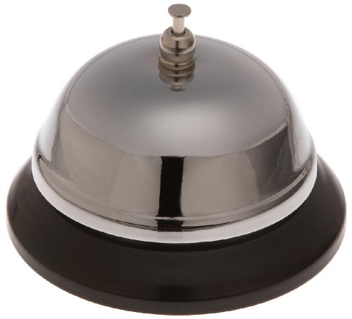 Bell Plated Call Nickel - Stanton Trading 2987 Call Service Bell, Steel Nickel Plated
