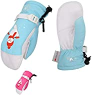 Vgo Kids' Winter Mittens, Skiing Gloves, -20℃/-4℉ (2Colors, GA244