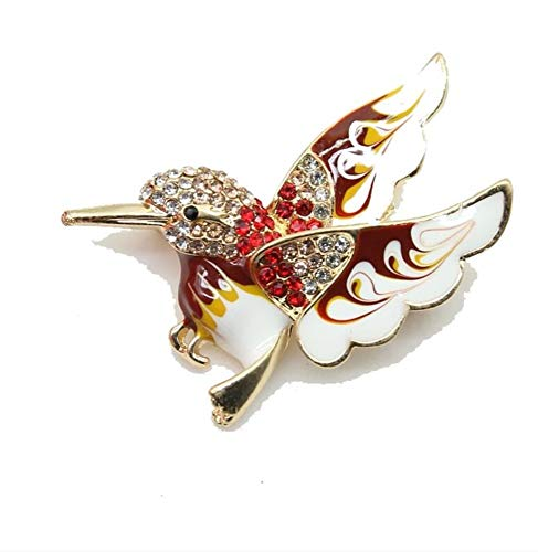 THTHT Luxurious Multi Color Birds Brooch Enamel Animal Pins for Women Men Suit Corsage Unisex Clothes Jewelry Pins Collar Pins ()
