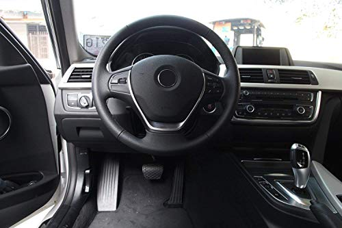 ABS Chrome Steering Wheel Cover Trim for BMW 3 Series f30 2013-2017 ()