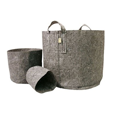 1 Gallon Root Pouch Grey Fabric Pot, 3-4 Year Lifespan, Bundle of 25