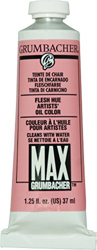 Grumbacher Max Water Miscible Oil Paint, 37ml/1.25 oz, Flesh Hue