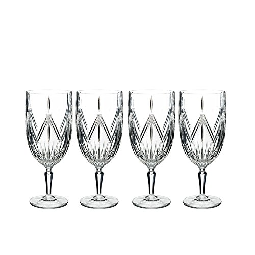 Waterford Beverage Glass - Marquis By Waterford 40032084 Lacey Iced Beverage Set of 4, 18 ounce, Clear
