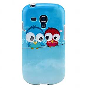Lovely Owls Glossy TPU IMD Soft Case for Samsung Galaxy S3 Mini I8190