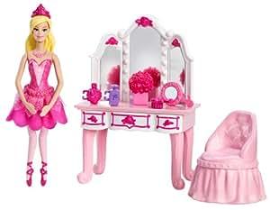 Amazon Com Barbie Pink Shoes Pink Vanity Furniture Set