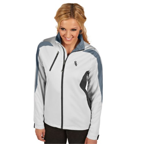 (MLB Chicago White Sox Women's Discover Jacket,White/Smoke/Steel, Small)
