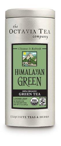 Octavia Tea Himalayan Green (Organic And Fair Trade) Loose Tea , 2.12-Ounce Tins (Pack of 2)