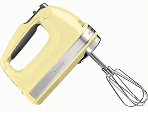 KitchenAid (Renewed) RKHM9my 9-Speed Most Powerful Digital Display Power Hand Mixer Majestic - Mixer Yellow Kitchen Aid