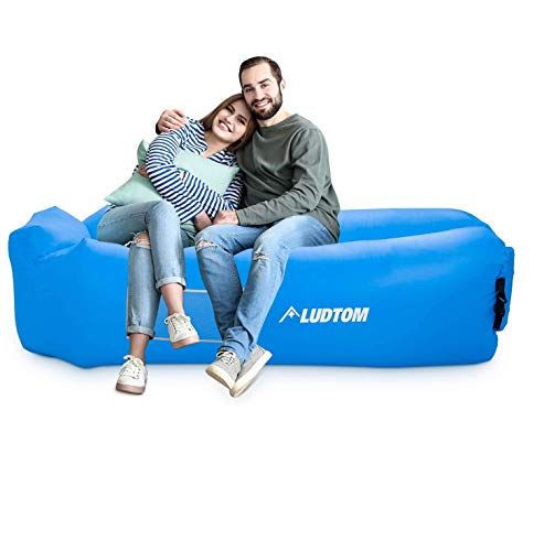 LUDTOM Inflatable Lounger Air Sofa Hammock, Portable Waterproof Anti-Air Leaking Pouch Couch Air Chair, Camping Compression Sacks for Traveling, Beach, Picnics, Hiking, Pool and Festival