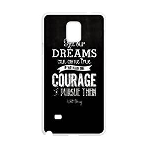 Walt Disney Dream Quotes Design Hard Case Cover Protector For Samsung Galaxy Note4 hjbrhga1544
