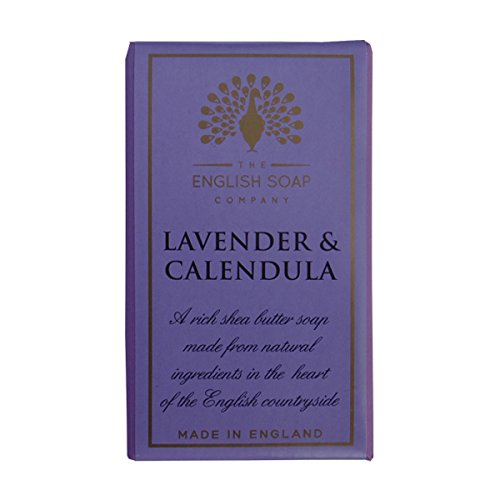 Lavender and Calendula Soap 200g soap by The English Soap (Lavender Perfumed Soap)