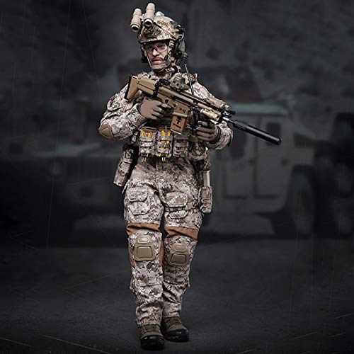 Lingxuinfo 1/6 Navy Special Forces Action Figure, DIY Movable Realistic Headsculpt Soldier Model Army Man Action Figure Military Figure Play Set