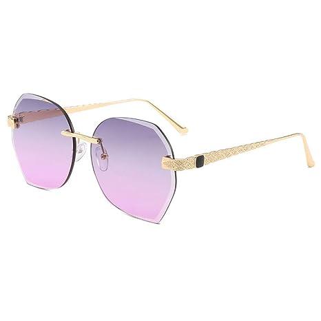 Dupeakya Gafas de Sol para Mujeres, Gafas de Sol Sin Marco y ...
