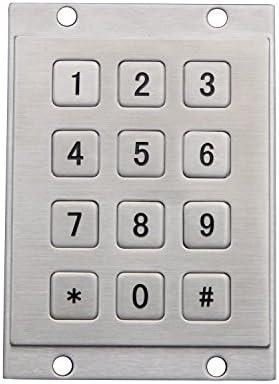 Teclado USB del metal con 12 teclados numéricos del quiosco ...