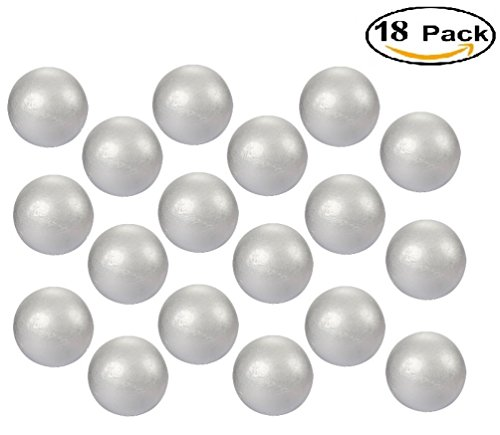 Wholesale Styrofoam Balls (18-Pack Styrofoam Craft Foam Balls - 1.5 inch Medium Size Craft Balls | Smooth Balls For Kid's School Art & Craft Project | Useful For Decoration)