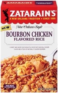 Zatarain's Bourbon Chicken Flavored Rice 8 oz ( 3 Pack) (The Best Bourbon Chicken)