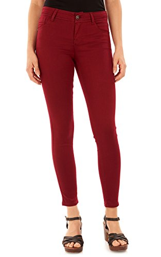red skinny jeans for juniors - 4