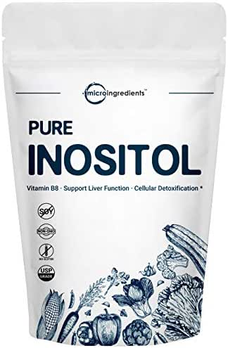 Pure Inositol Powder, 1KG (2.2 Pounds), Strongly Supports Liver Health & Antioxidant, No GMOS and Vegan Friendly