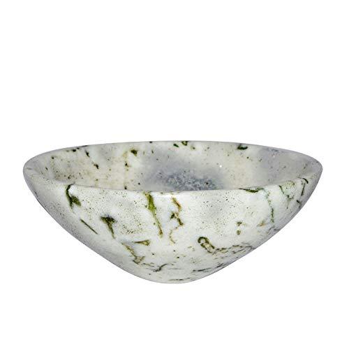 Devotional Bowl - Crocon Tree Agate Hand Carved Gemstone Bowl Tray Dish Devotional Focus Spiritual Chakra Cleansing Metaphysica Devotional Focus Spiritual Chakra Cleansing Metaphysical Size 2 inch