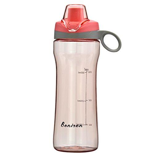 BONISON Sports Bottle Water With Flip Top Lid Leak Proof Bpa