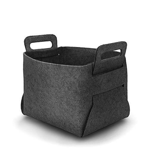 Storage Baskets - Fashion Sell Felt Storage Basket Collapsible Convenient Laundry Bin Toy Book And Snacks - Dollars Xlarge Baby Bathroom Sizes Nesting Rattan Expresso Handle Ivory Gray Storage -  BizAmzz, H5R0W5VB5MBCAX8WXOVY