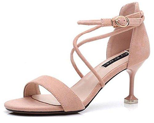 7cm thin lady women sandal night heel tied sandal night cross pink Women shoes party 2018 women club fashion sexy newest 6 high qXwFRxZp