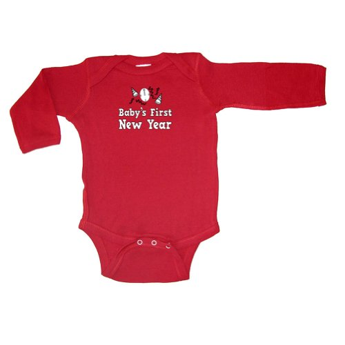Baby's First New Year Long Sleeve Bodysuit - 7 Colors