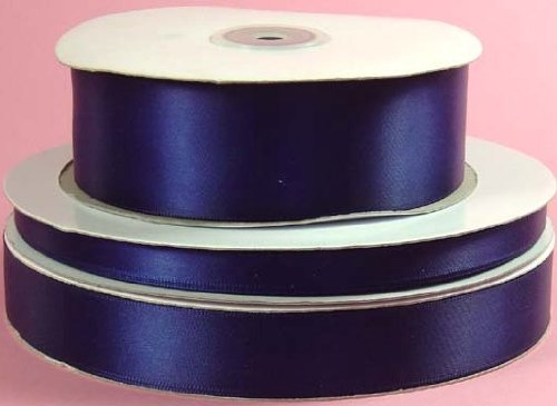 Double Face NAVY BLUE 100% Polyester Satin Ribbon 5/8 inch x 100 yards