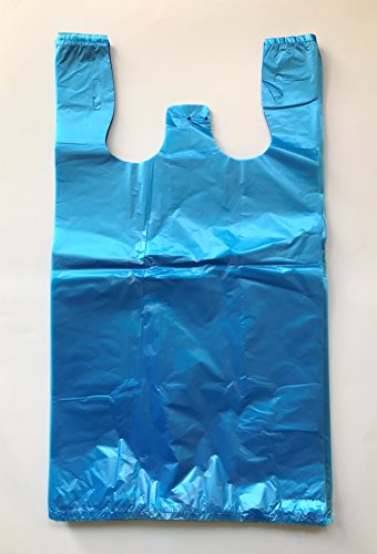 RG Large Plastic Grocery T-shirts Carry-out Bag Blue Unprinted 12 X 6 X 21 (100)